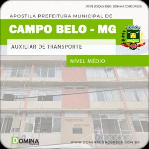 Apostila Pref Campo Belo MG 2020 Auxiliar de Transporte