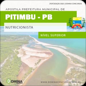 Apostila Concurso Pref Pitimbu PB 2020 Nutricionista