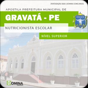 Apostila Concurso Pref Gravatá PE 2020 Nutricionista Escolar