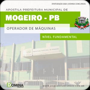 Apostila Concurso Pref Mogeiro PB 2020 Operador de Máquinas