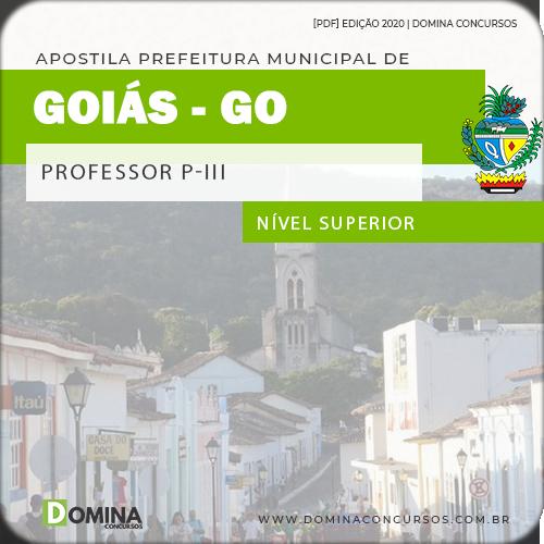Apostila Concurso Público Pref Goiás GO 2020 Professor P III