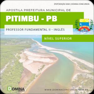 Apostila Concurso Pref Pitimbu PB 2020 Professor II Inglês