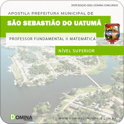 Apostila Pref São Sebastião Uatumã AM 2020 Prof Matemática