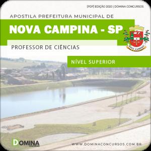 Apostila Pref Nova Campina SP 2020 Professor de Ciências