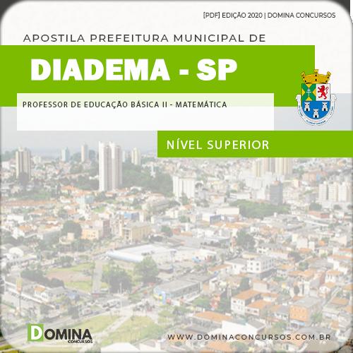 Apostila Diadema SP 2020 Prof Educação Básica II Matemática