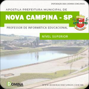 Apostila Pref Nova Campina SP 2020 Prof Informática EDU