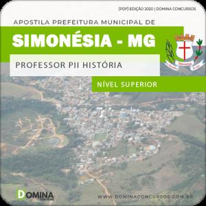 Apostila Pref Simonésia MG 2020 Professor PII História