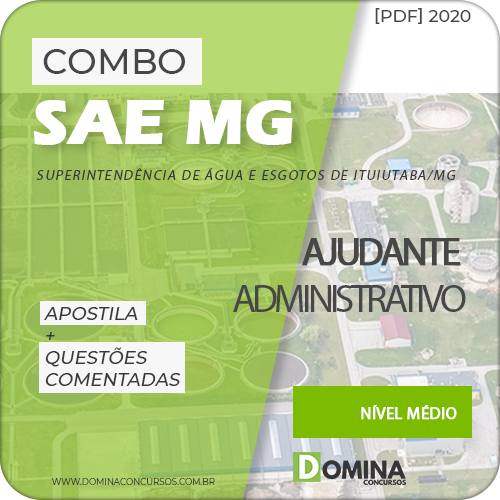 Apostila Concurso SAE MG 2020 Ajudante Administrativo