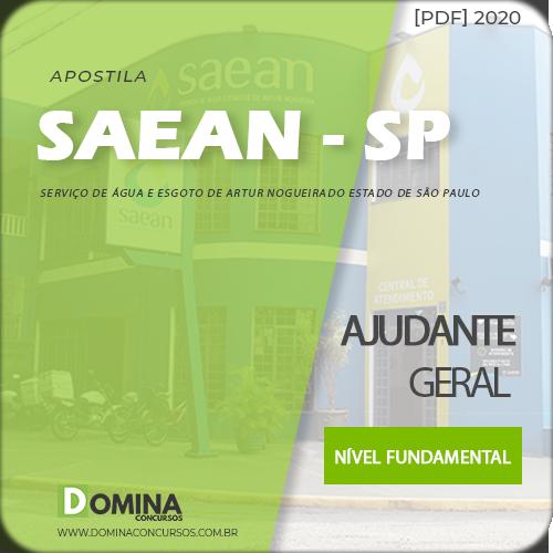 Apostila SAEAN Artur Nogueira SP 2020 Ajudante Geral