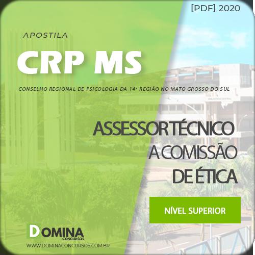 Apostila CRP MS 2020 Assessor Técnico a Comissão de Ética