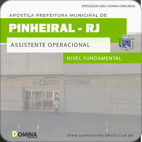 Apostila Câmara Pinheiral 2020 Assistente Operacional