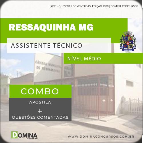 Apostila Câmara Ressaquinha MG 2020 Assistente Técnico