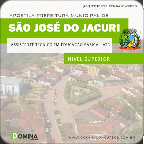 Apostila Pref São José Jacuri MG 2020 Assistente Técnico Educação