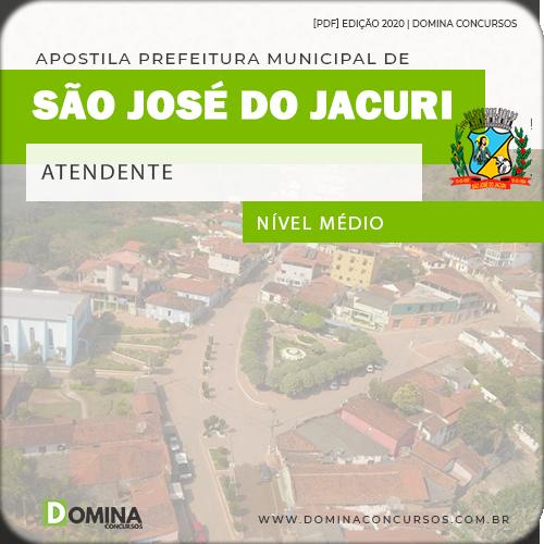 Apostila Concurso Pref São José Jacuri MG 2020 Atendente