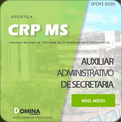 Apostila CRP MS 2020 Auxiliar Administrativo de Secretaria