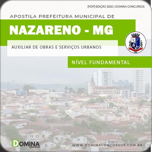 Apostila Nazareno MG 2020 Auxiliar Obras Serviços Urbanos