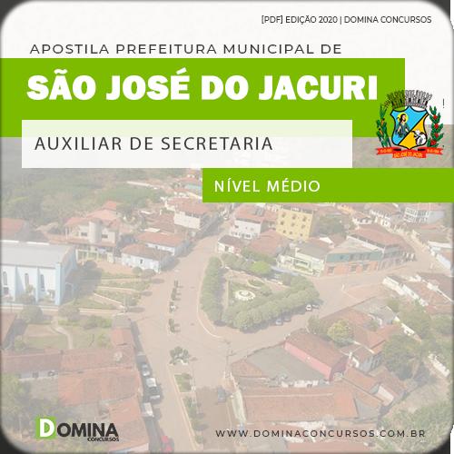Apostila Pref São José Jacuri MG 2020 Auxiliar de Secretaria