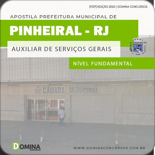 Apostila Câmara Pinheiral 2020 Auxiliar Serviços Gerais