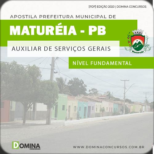 Apostila Pref Maturéia PB 2020 Auxiliar de Serviços Gerais