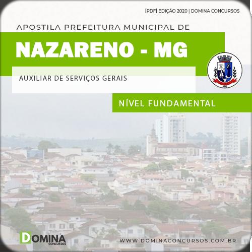 Apostila Nazareno MG 2020 Auxiliar de Serviço Gerais