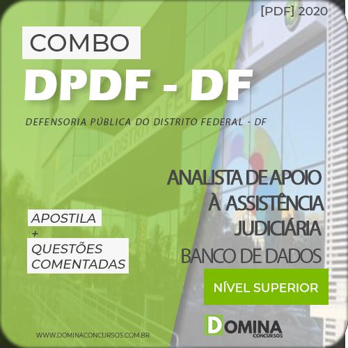 Capa Concurso DPDF 2020 Informática Banco de Dados