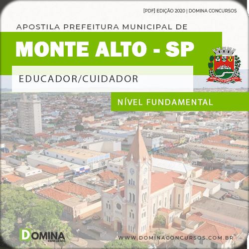 Apostila Pref Monte Alto SP 2020 Educador Cuidador