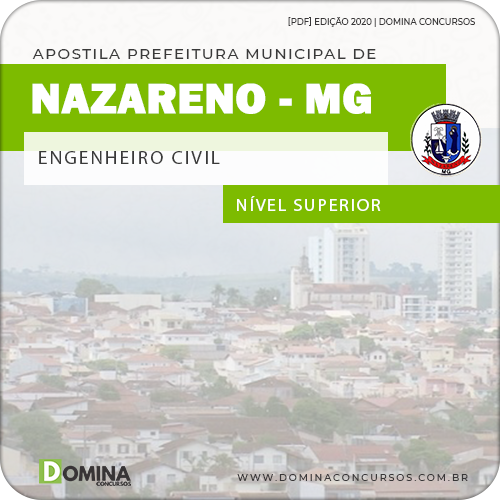 Apostila Concurso Nazareno MG 2020 Engenheiro Civil