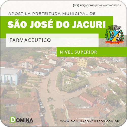 Apostila Concurso Pref São José Jacuri MG 2020 Farmacêutico