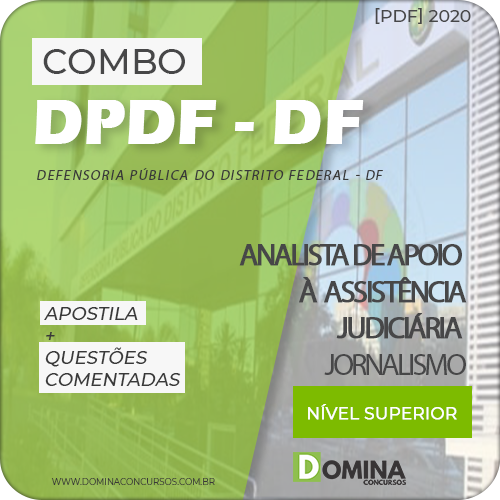 Capa Concurso DPDF 2020 Analista Jornalismo