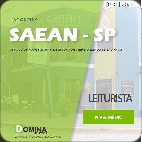 Apostila SAEAN Artur Nogueira SP 2020 Leiturista