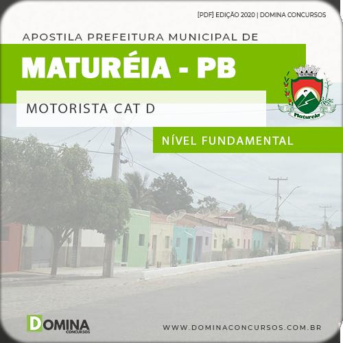 Apostila Concurso Pref Maturéia PB 2020 Motorista Cat D