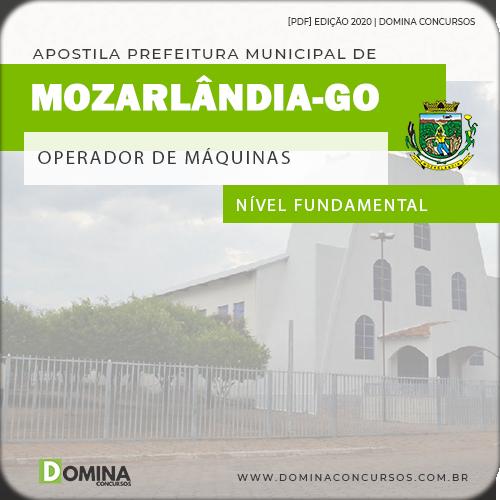Apostila Pref Mozarlândia GO 2020 Operador Máquinas