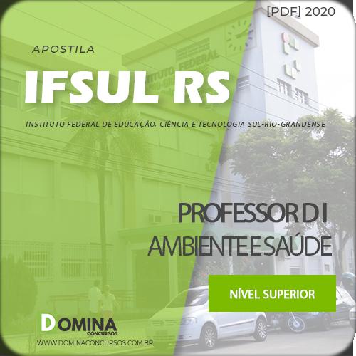 Apostila Concurso IFSUL RS 2020 Professor D I Ambiente Saúde