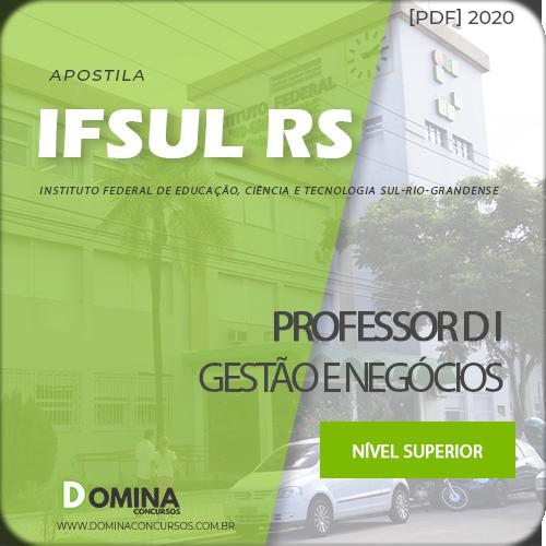 Apostila Concurso IFSUL RS 2020 Professor D I Gestão Negócios