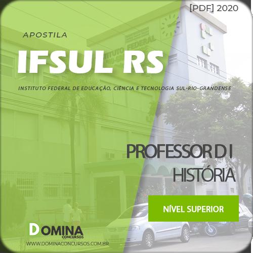 Apostila Concurso IFSUL RS 2020 Professor D I História