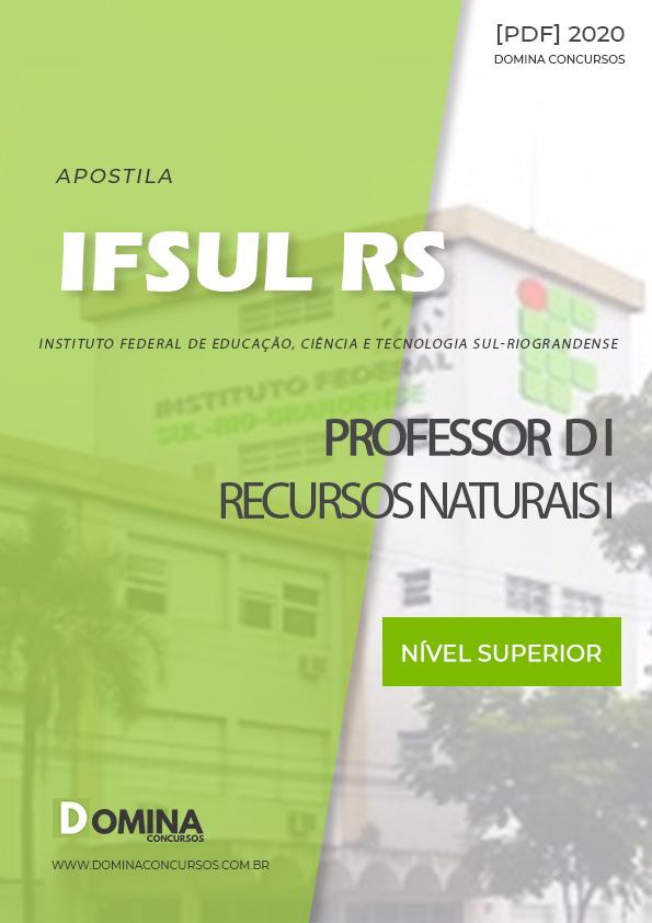 Apostila IFSUL RS 2020 Professor D I Recursos Naturais I