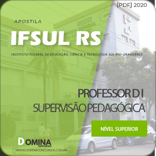 Apostila IFSUL RS 2020 Professor D I Supervisão Pedagógica