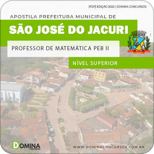 Apostila Pref São José Jacuri MG 2020 Prof Matemática PEB II