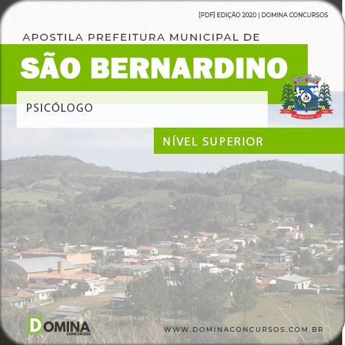 Apostila Concurso São Bernardino SC 2020 Psicólogo