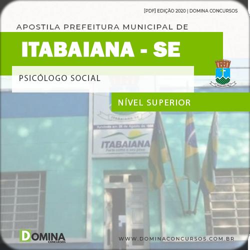 Apostila Concurso Pref Itabaiana SE 2020 Psicólogo Social