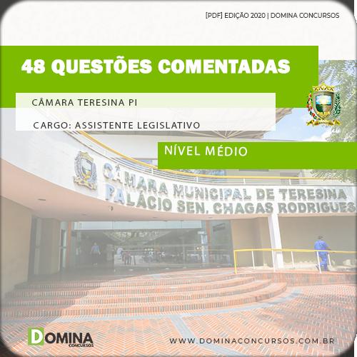 48 Questões Comentadas Câmara Teresina PI Assistente Legislativo AOCP