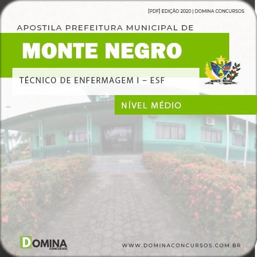 Apostila Monte Negro RO 2020 Técnico em Enfermagem
