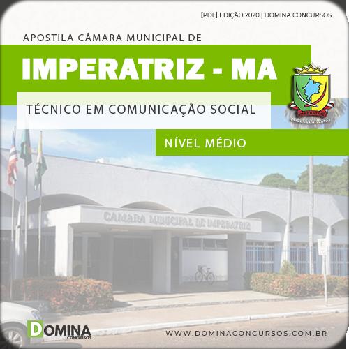 Apostila Câmara Imperatriz MA 2020 Técnico Comunicação Social