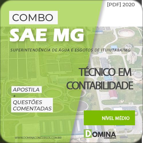Apostila Concurso SAE MG 2020 Técnico em Contabilidade