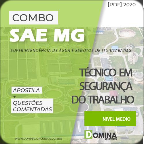 Capa SAE MG 2020 Técnico em Segurança do Trabalho