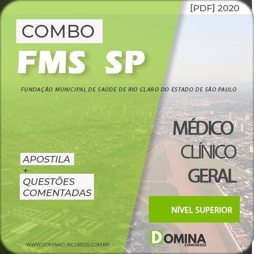 Apostila Concurso FMS Rio Claro SP 2020 Médico Clínico