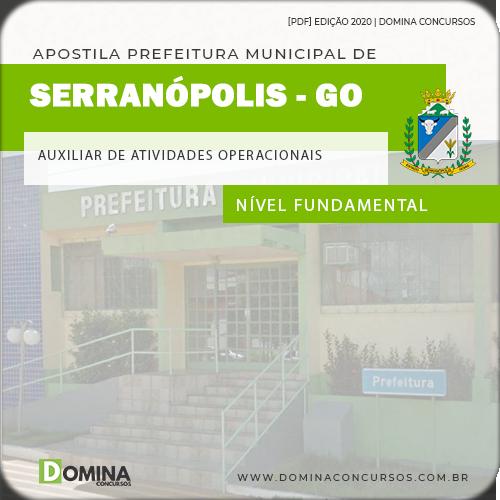 Apostila Serranópolis GO 2020 Auxiliar de Atividades Operacionais