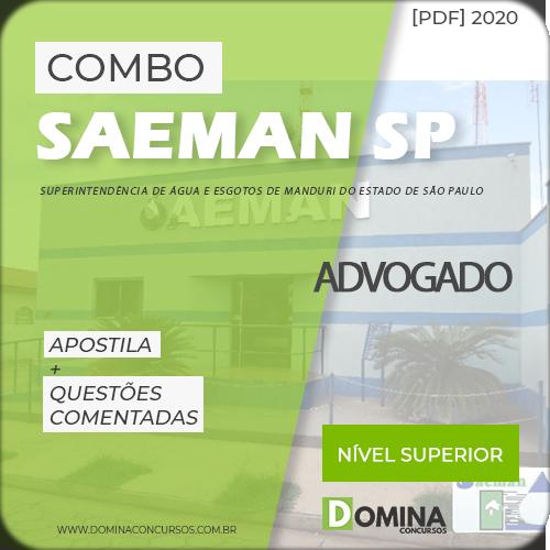 Apostila Concurso SAEMAN SP 2020 Advogado