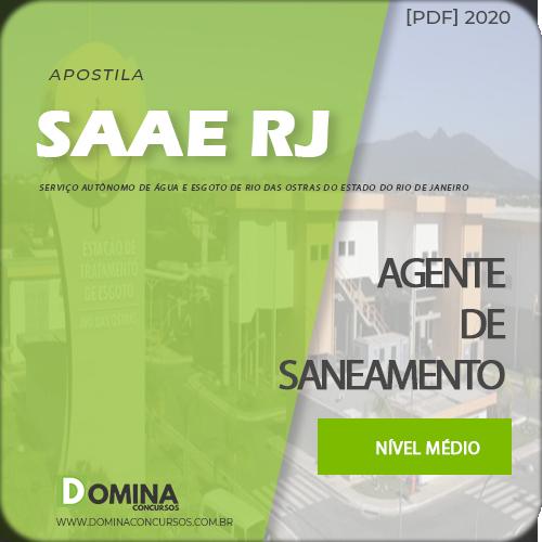 Apostila SAAE Rio das Ostras RJ 2020 Agente de Saneamento