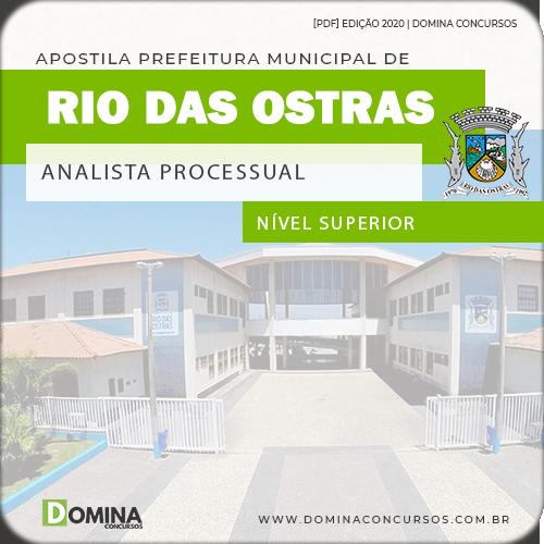 Apostila Concurso Rio das Ostras RJ 2020 Analista Processual